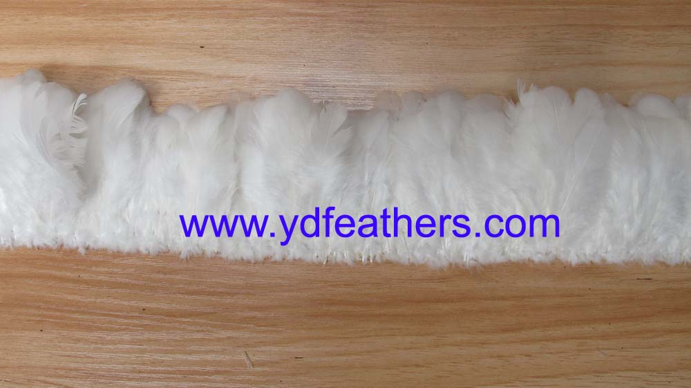 strung hen feather 3-4inches